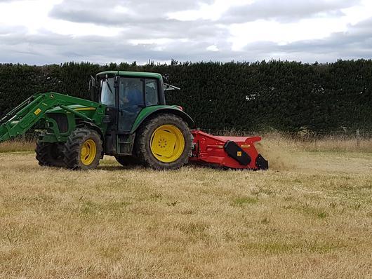 Vigolo heavy duty mulcher topping grass   Agriline NZ