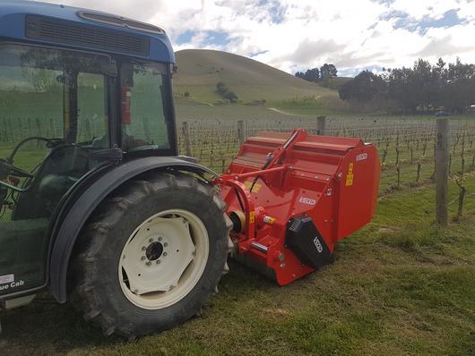 RSA orchard mulcher with catcher   Vigolo RSA pick-up