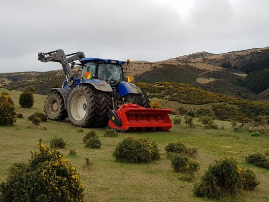 Vigolo Double drive mulcher clearing gorse