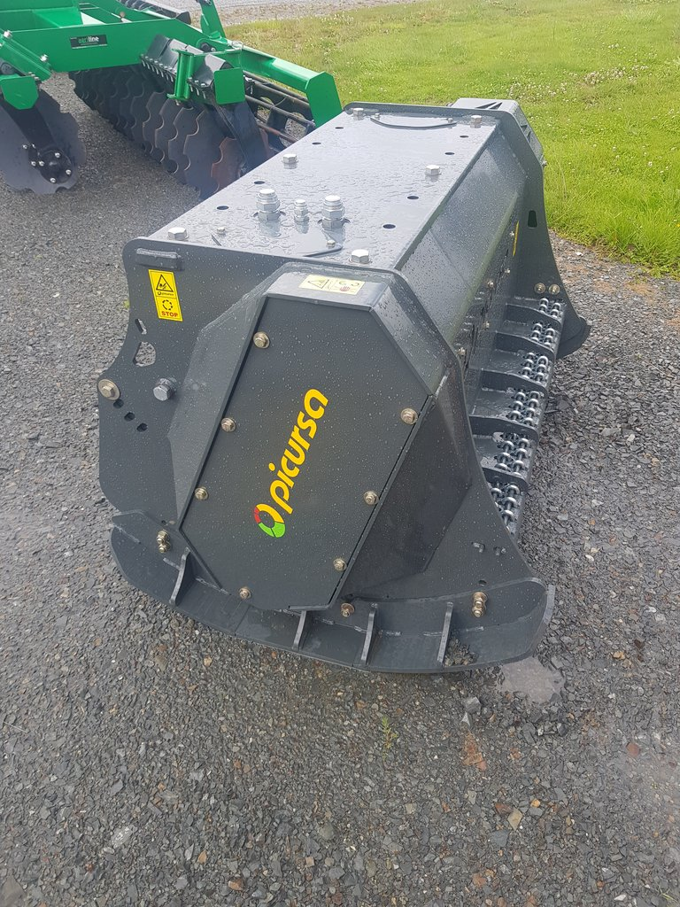 Excavator mounted fixed tooth forestry mulcher