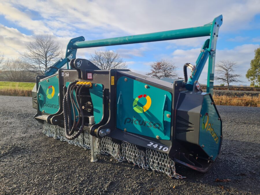 Tough fixed tooth forestry mulcher