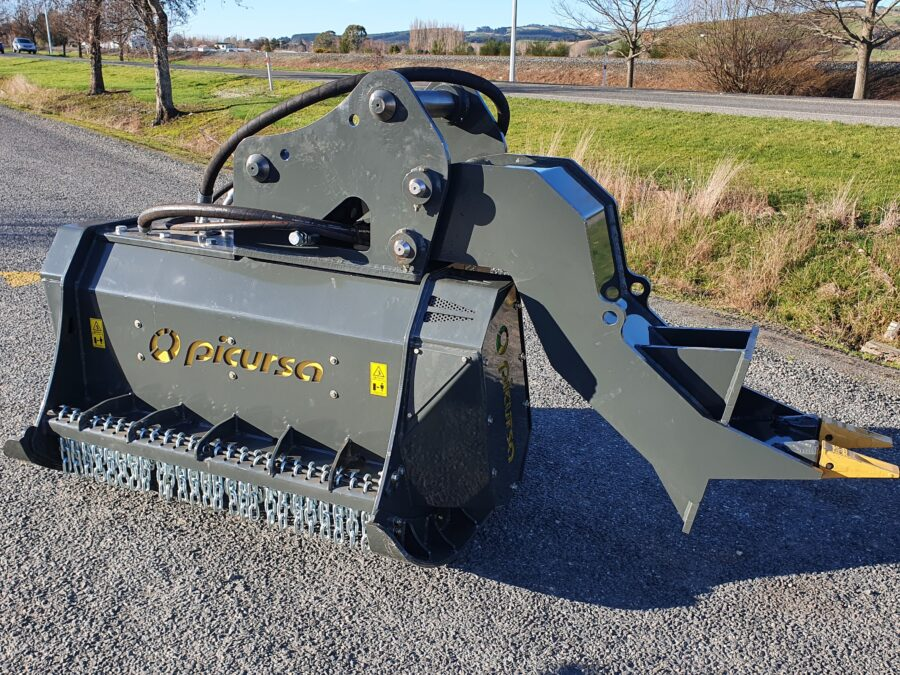 Heavy Duty Excavator Mounted Mulcher With Ripper Foot