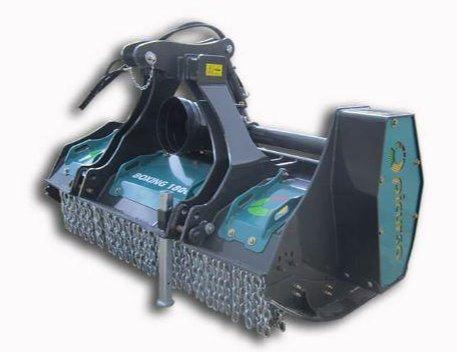 Fixed tooth forestry mulcher with fixed carbide teeth