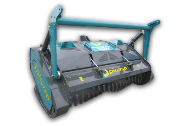 Fighter heavy duty forestry mulcher with pusher bar