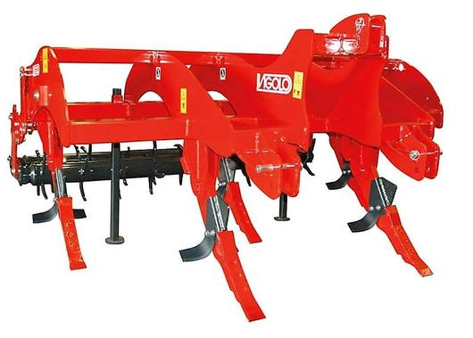 Vigolo deep ripper with double spiked rolllers