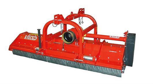 Front/Rear mount orchard mulcher with hammer flails