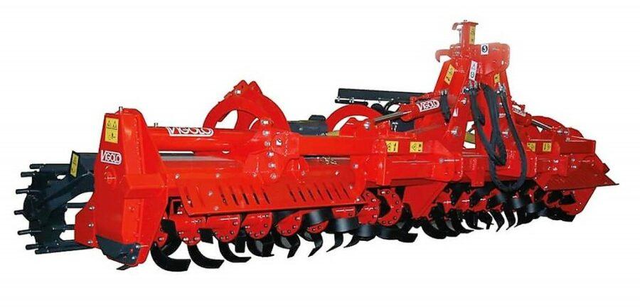 Heavy Duty Folding rotary hoe with rear roller