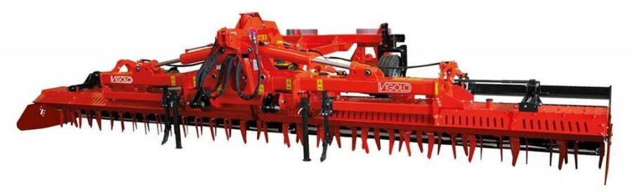 Vigolo heavy duty folding power harrow