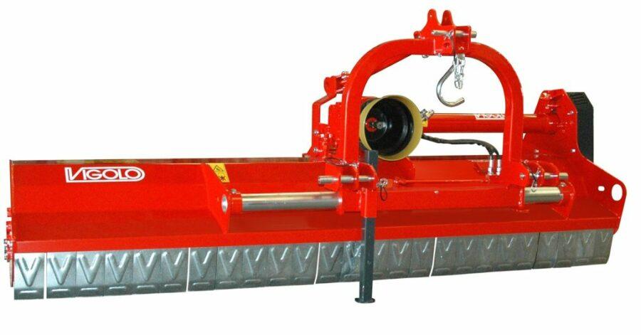 Vigolo low body mulcher with hydraulic side-shift
