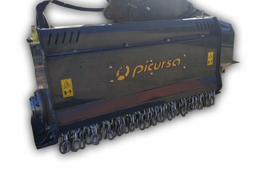 Heavy duty digger mounted mulcher | Picursa Retro Boxing