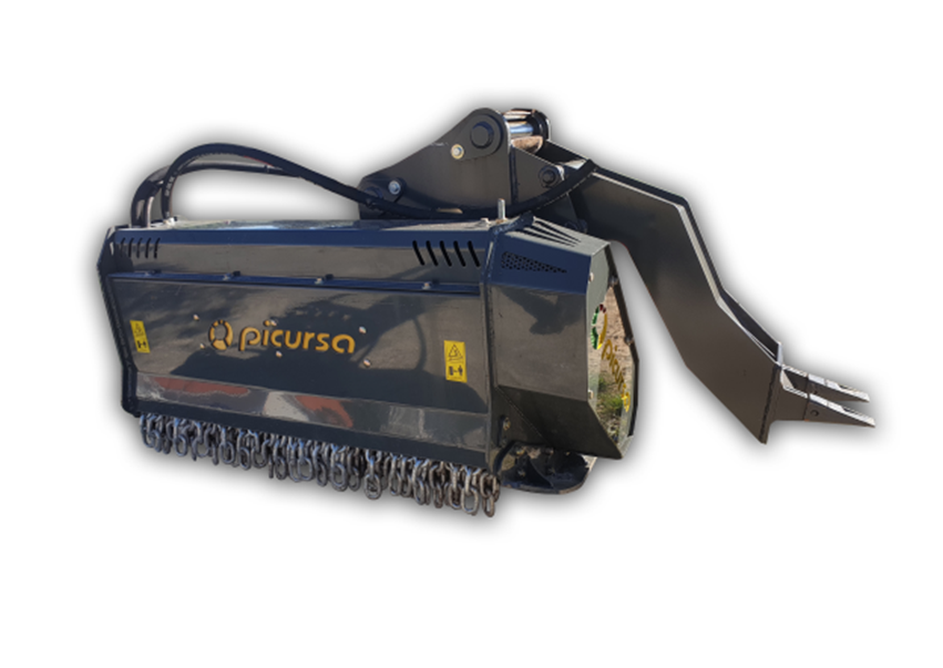 Fixed Tooth Excavator Mulcher with Ripper Foot