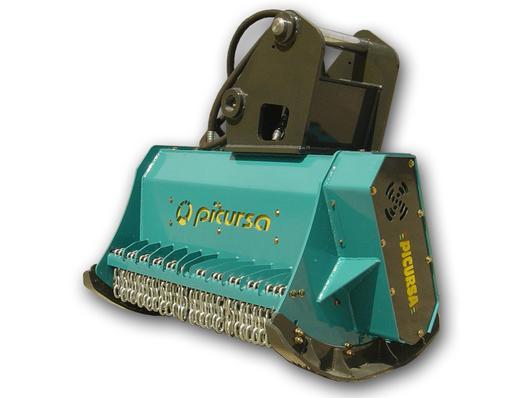Digger mounted mulcher