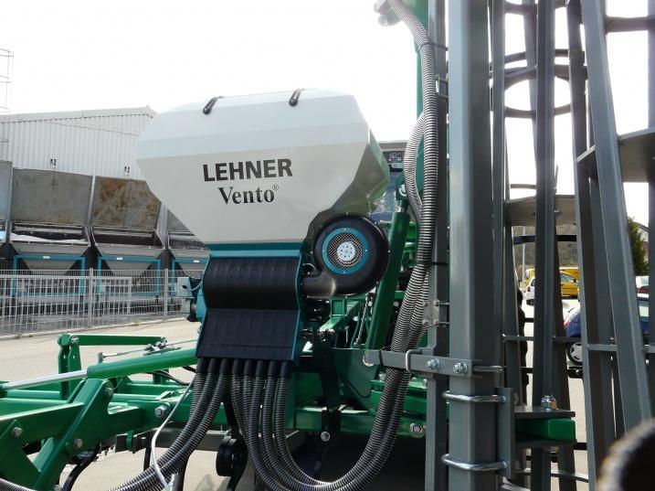 Lehner air seeder on cultivator