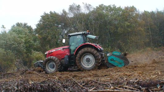 Picursa Combat forestry mulcher clearing forestry slash