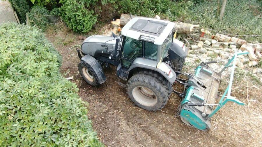 Mulching slash with Picursa tekken forestry mulcher