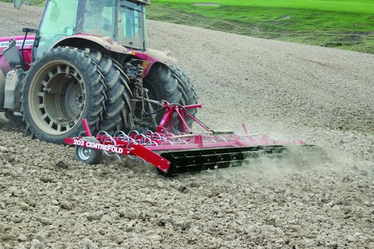 Spring Tine Cultivator with Cage roller
