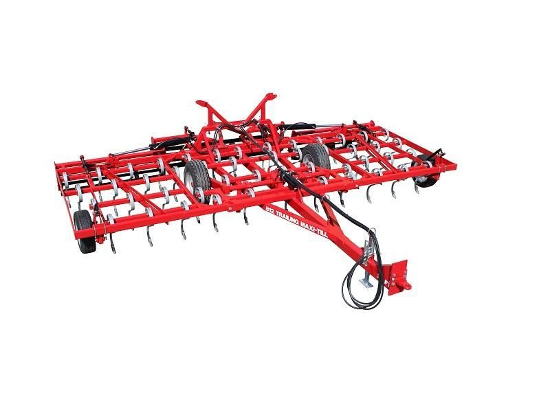 Trailed spring tine cultivator with cage roller