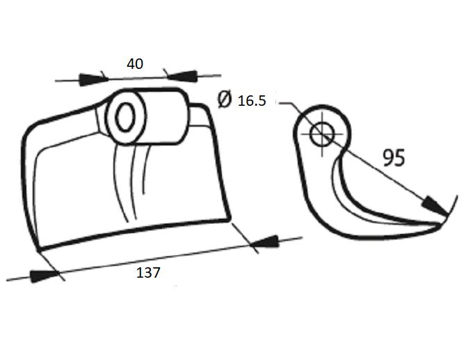 Berti or Breviglieri Mulcher Hammer Flail