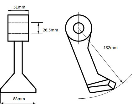 Mulcher Hammer Flail For Nobili or Alpego mulcher