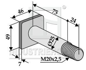 Flail bolt for Nobili and Falc mulchers